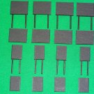 Blank Set of 16 Wallboards & Billboards N Gauge Advertising Signs Railway Hobby #2055