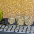 Straw Hay Bales Realistic O Gauge 2 Packs Wagon Loads + FREE Scale Chart #2060