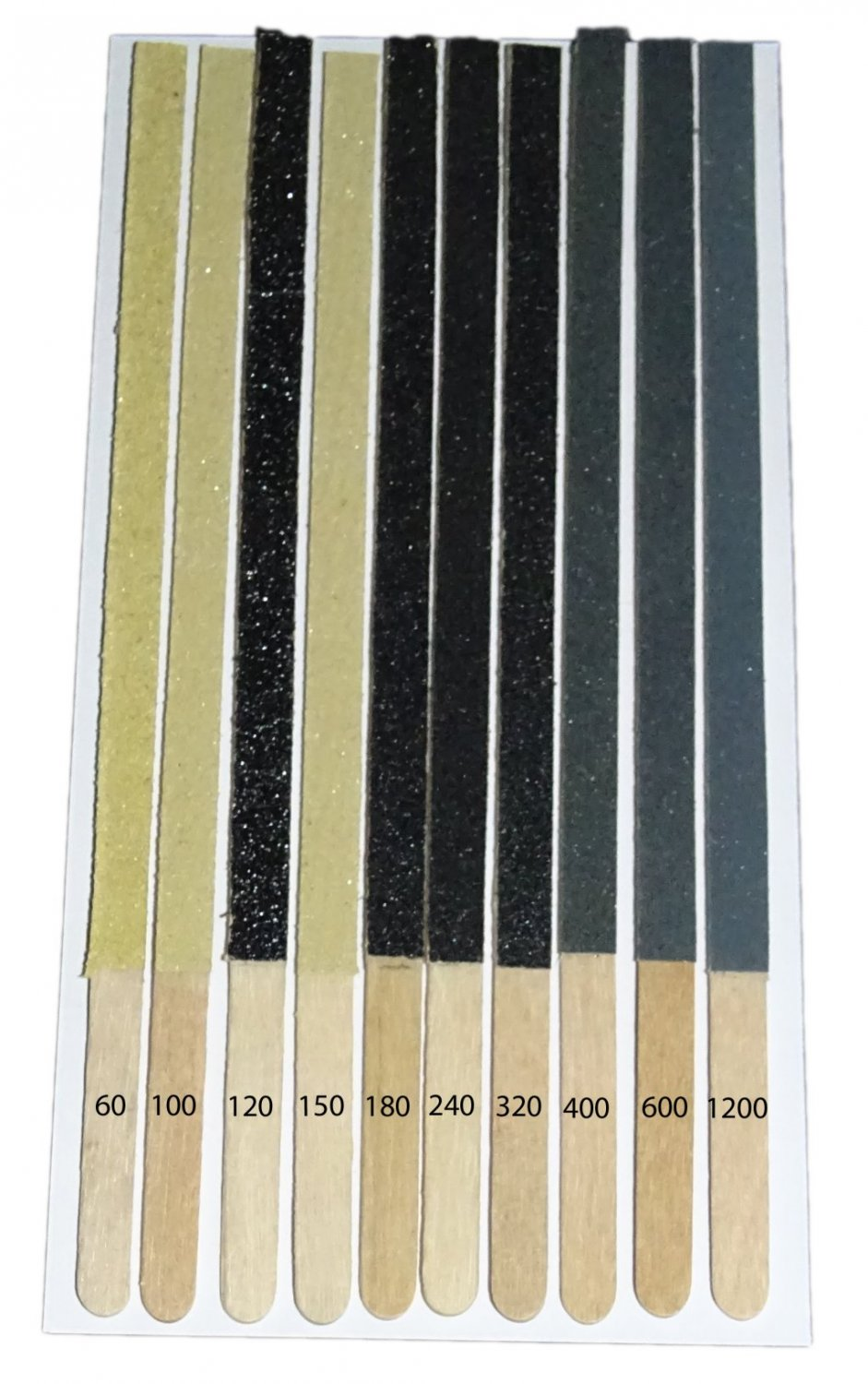 Sanding Sticks Type 1 Double Sided 10 Grades 2 of each N Gauge Aid + 2 FREE #2028