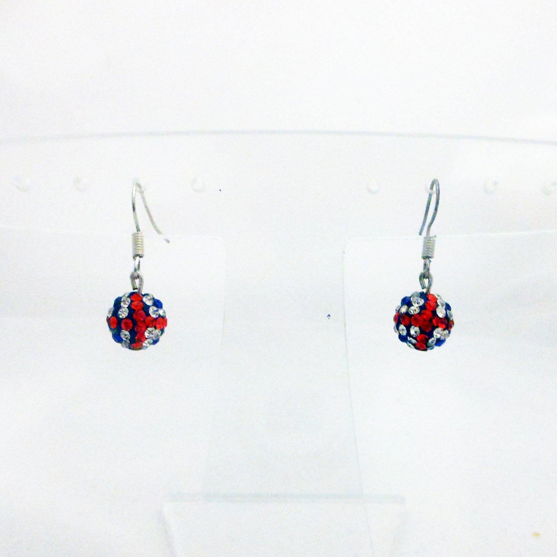 Union Jack British Crystal Earrings