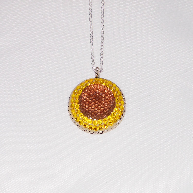 Yellow Sunrise Swarovski Crystal Necklace