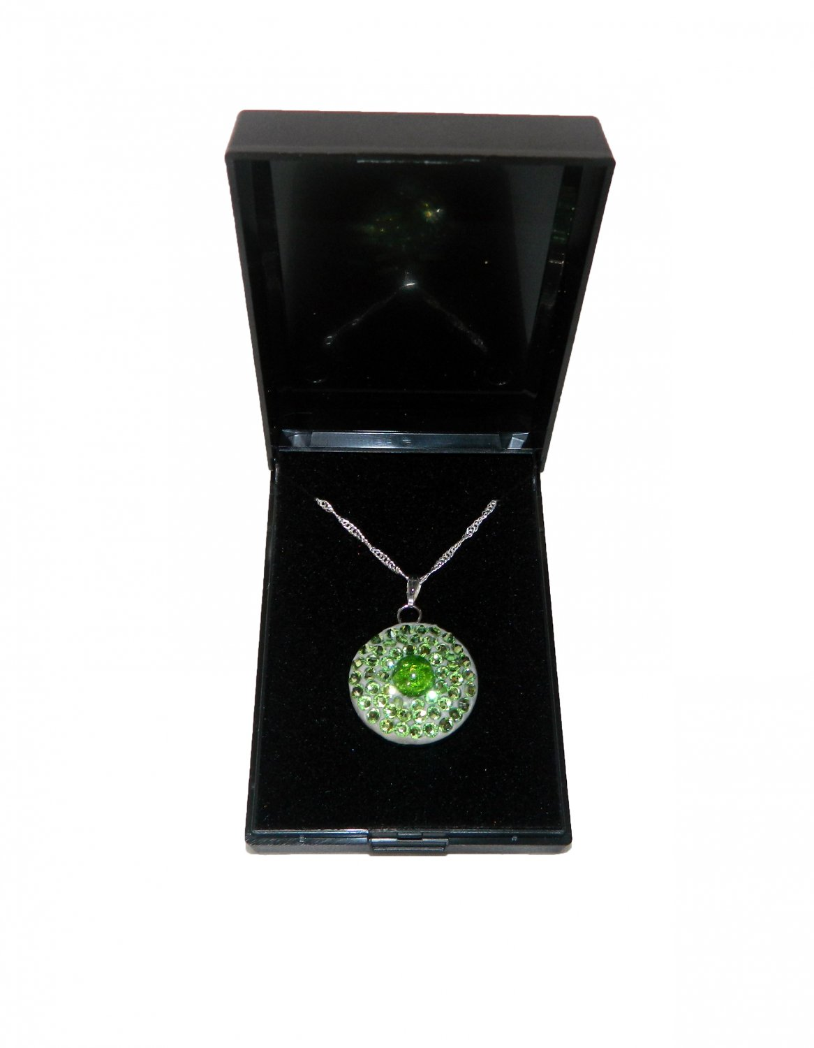Green Round Crystal Necklace