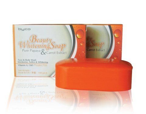 Beauty Whitening Soap with Papaya and Carrot extract