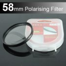58mm Circular Polarizer Polarizing Lens (CPL) Filter for Canon EOS 100D 600D 550D 650D 18-55mm
