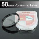 58mm Circular Polarizer Polarizing Lens CPL Filter for Samsung NX1000 NX20 NX300 NX10 NX200 18-55mm