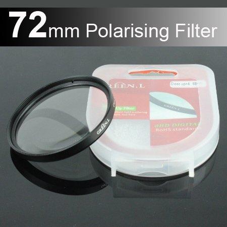 Green.L 72mm Circular Polarizer Polarizing Lens (CPL) Filter for Canon, Nikon 18-200mm 72mm Lens