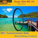 NiSi® 58mm Super Slim Ultra Violet UV MC Multi Coated (12 Layers) Lens Filter Japanese Glass