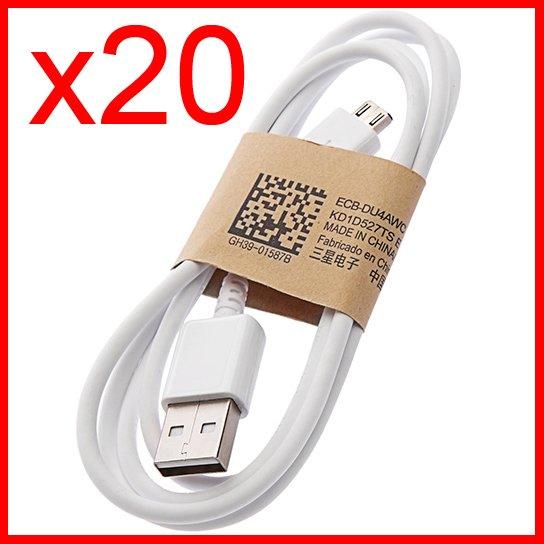 20 x Micro USB Data Charging Cable for Samsung Galaxy Mega 6.3/ Nexus/ Legend/ ATIV S Neo