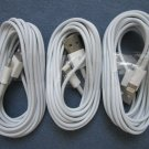 3 x 10 FT Cable White USB Data Cord for iPhone 5S 5C 5 iOS 7 Sync Charging Wire