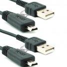 2x USB Data Cable Cord for Sony CyberShot DSC-W560 DSC-W570 DSC-WX5 VMC-MD3 3FT