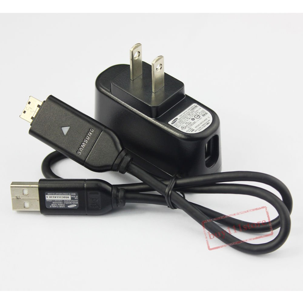 Replacement Wall Charger+USB Cable For Samsung PL150 PL170 PL200 PL210 SUC-C3/C5/C7
