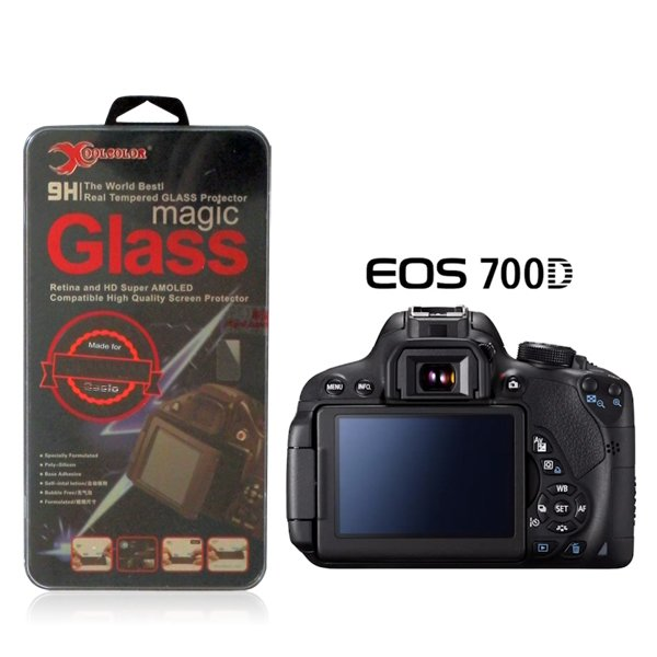 Real 9H Tempered Glass Screen Protector for Canon EOS 700D Rebel T5i Camera