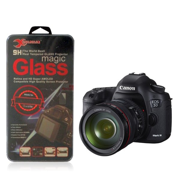 Real 9H Tempered Glass Screen Protector for Canon EOS 5D Mark III 5D3 Camera