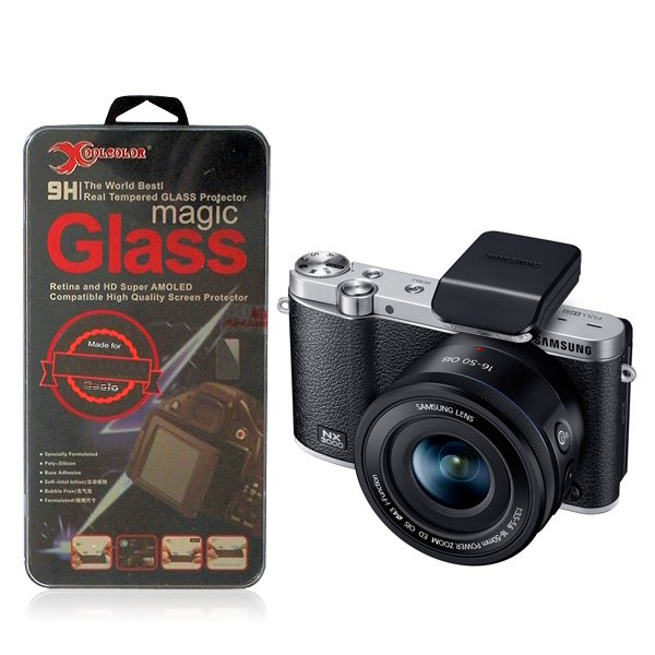 Real 9H Tempered Glass Screen Protector for Samsung NX3000 Digital Camera