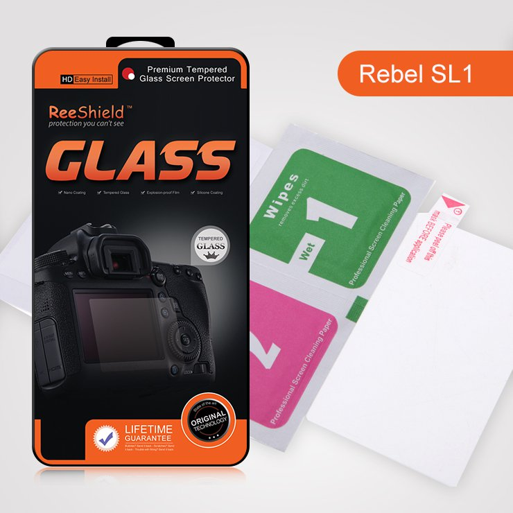 ReeShield Tempered Glass LCD Screen Protector for Canon EOS 100D Rebel SL1 Digital Camera