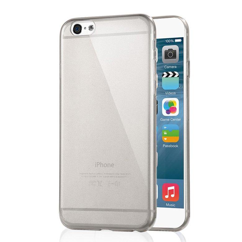 """2-Packs Premium SLIM TPU Skin Case Cover for Apple iPhone 6S Plus & 6 Plus 5.5"""" - Grey"""