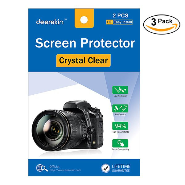 6X Clear LCD Screen Protector Film for Sony Alpha a6300 a6000 a5100 a5000 a3000