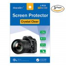 6X Clear LCD Screen Protector for Olympus OM-D E-M1 E-M10 / E-M10 II / E-M5 Mark II Camera