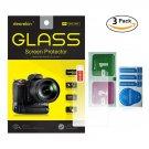 3-Pack Self-Adhesive Glass LCD Screen Protector for Sony Alpha a7 II / a7S II / a7R II / a77 II