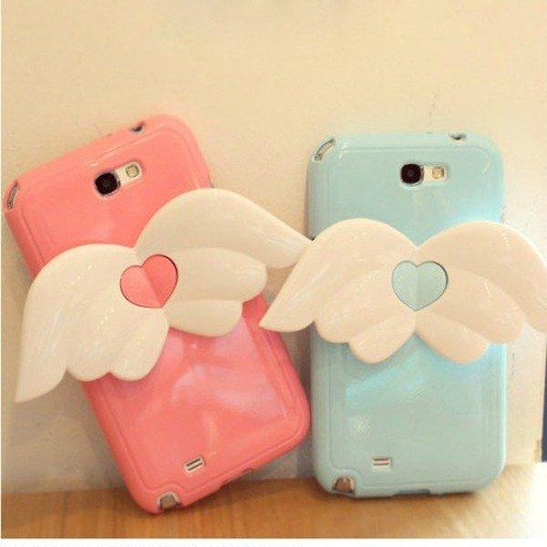 HOT Angel Loving Heart Back Case for iPhone 4/4S/5/Samsung Galaxy Note II N7100/ S III i9300