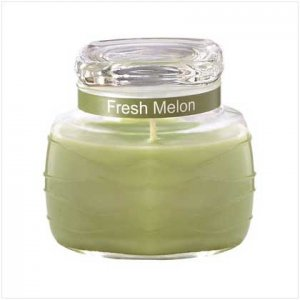 Lime Green Ripple Jar Candle