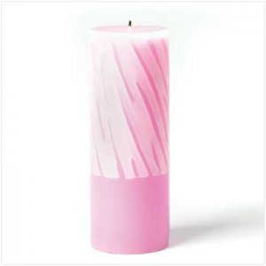 Pink And White Pillar Candle