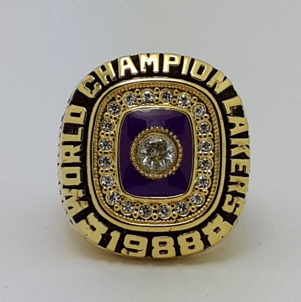 1988 Los Angeles Lakers Basketball Championship ring JOHNSON replica size 12 US