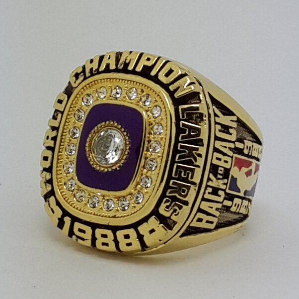 1988 Los Angeles Lakers Basketball Championship ring JOHNSON replica size 10 US