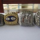 A Set New York Giants ring 1986 1990 2007 2011 super bowl championship ring size 11 US 4PCS