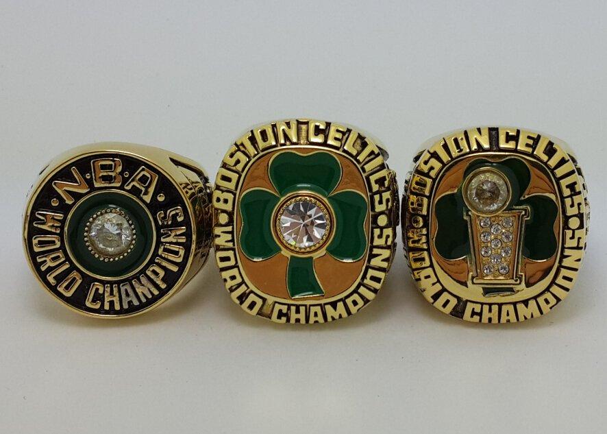 A Set Boston Celtics Ring 1981 1984 1986 Basketball