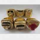 A SET Chicago Bulls ring JORDAN Dynasty Basketball Championship ring replica size 10 US 6pcs