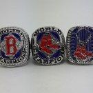 3PCS Boston Red Sox 2004 2007 2013 Baseball championship ring MLB ring size 11 US BACK SOLID