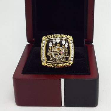 2005 Pittsburgh Steelers super bowl championship ring size 11 US With wooden box