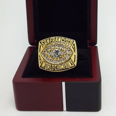 1981 San Francisco 49ers super bowl championship ring size 11 US with wooden box