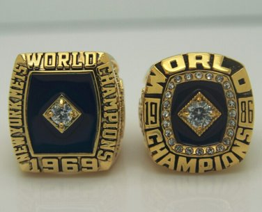 1969 1986 New York Mets Baseball championship ring MLB ring size 9-13 US
