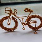 unique custom handmade gift wire bike yellow gold bicycle birthday presents