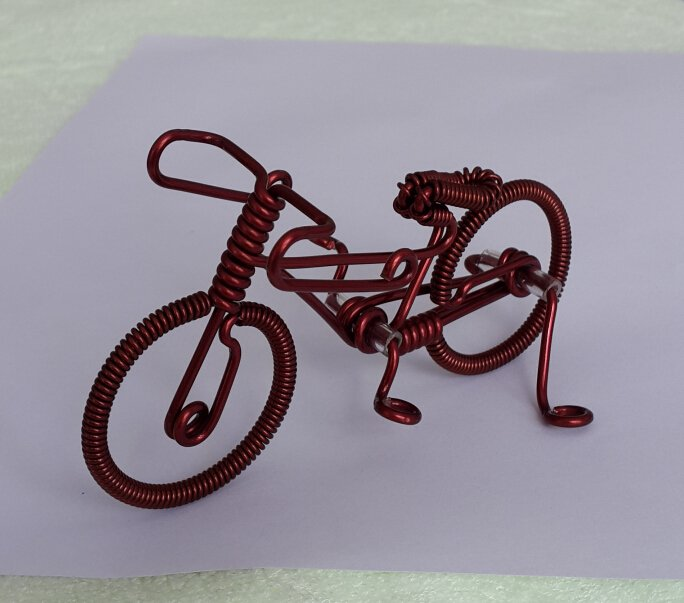 Special gift unique custom handmade gift wire bike bicycle birthday presents