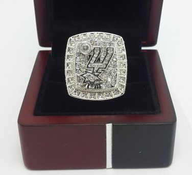 2014 San Antonio Spurs DUNCAN Basketball Championship ring replica size 9-13 US with wooden box