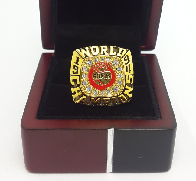 1994 Houston Rockets Basketball championship ring size 10 US Ola juwan  with wooden box