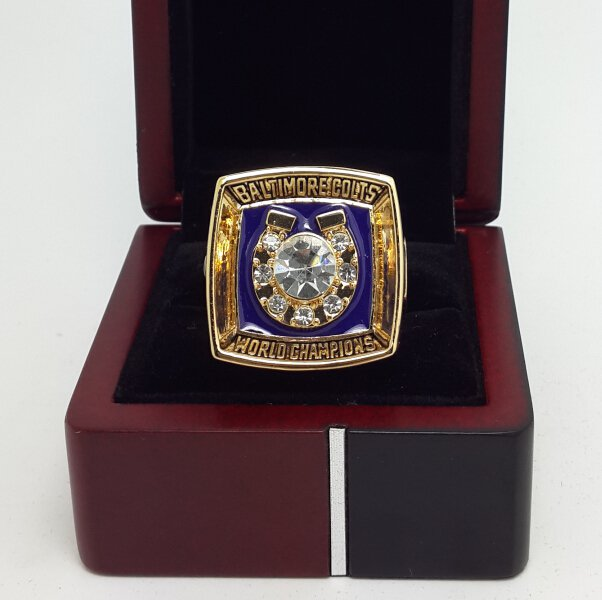 1970 Baltimore Colts ring super bowl championship ring size 11 US with wooden box