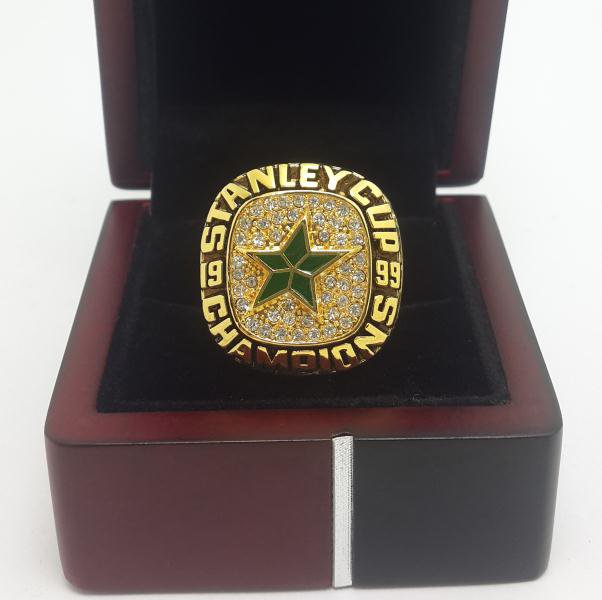 1999 Dallas Stars NHL Hockey stanely cup Championship ring 8-14 US WITH WOODEN BOX