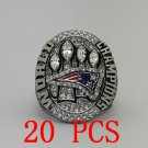 20 PCS New England Patriots XLIX 2015 Super Bowl Championship ring size 11 Back Solid