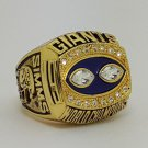 1990 New York Giants super bowl championship ring size 11 US Back Solid