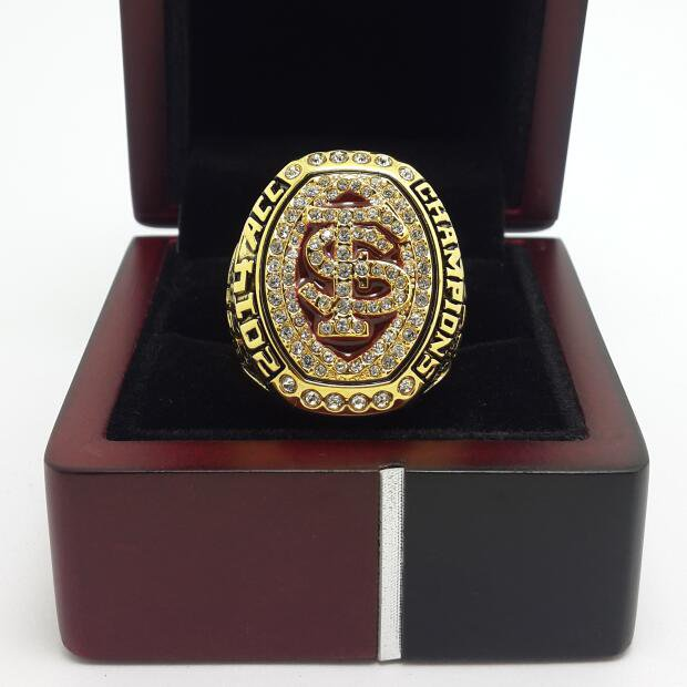 2014 Florida State FSU Seminoles ACC Championship ring NCAA 9-14S Back Solid With Wooden Box