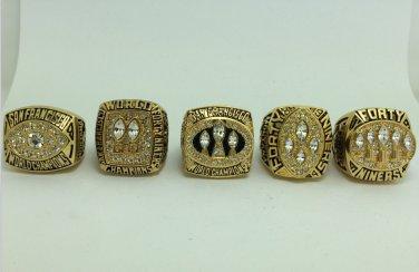 San Francisco 49ers ring 1981 1984 1988 1989 1994 super bowl ring size 11
