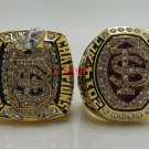 2013 2014 Florida State FSU Seminoles ACC Championship rings NCAA 8-14S Back Solid