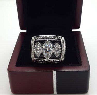 1983 Los angeles Raiders XVIII super bowl championship ring size 8-14 US with Wooden Box