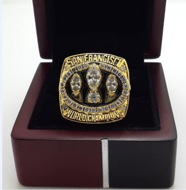 1988 San Francisco 49ers XXIII super bowl championship ring size 8-14 US with wooden box