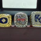 1985 2014 2015 Kansas City Royals American League baseball championship rings size 8-14 Wooden Box