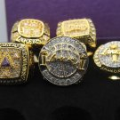 A Set Los Angeles Lakers Kobe Bryant Championship rings size 8 9 10 11 12 13 14 US 5PCS